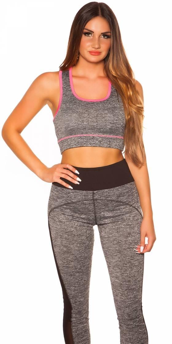 Trendy Workout Crop Top