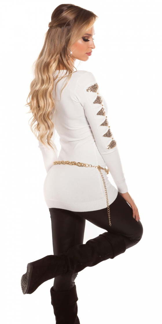 Shorts tendance fashion LEA couleur blanc
