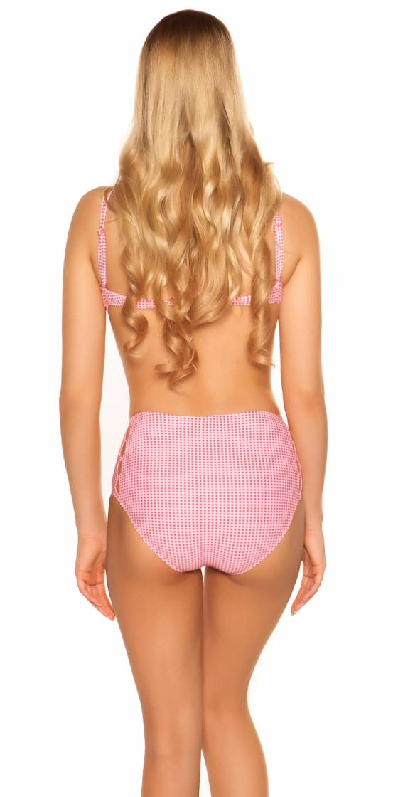 Bikini sexy motifs carreaux