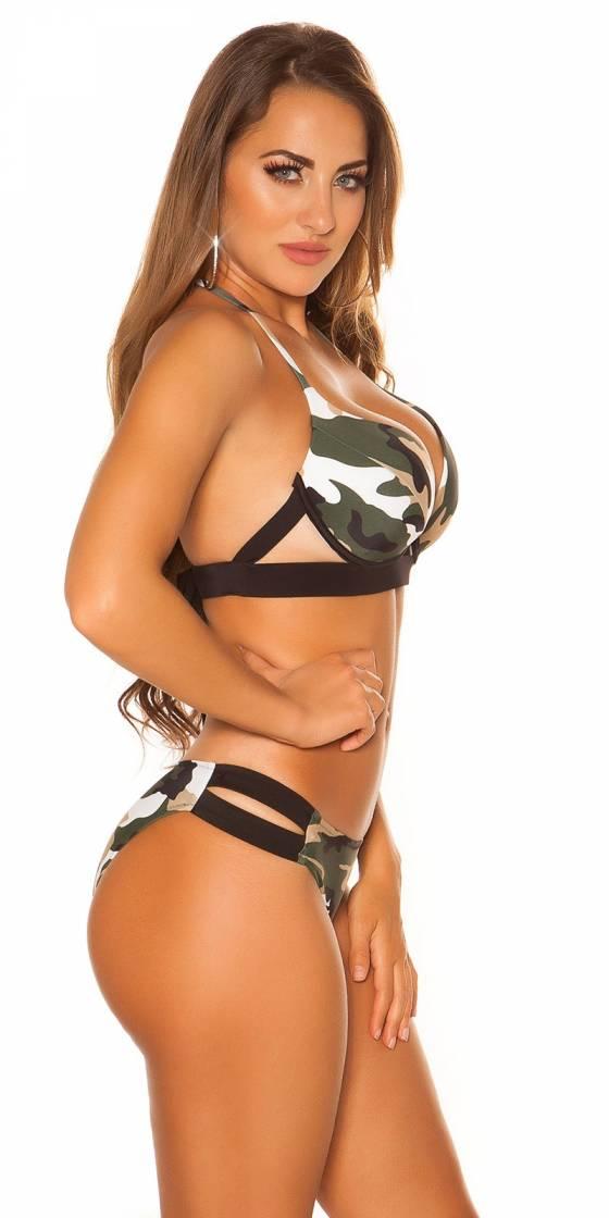 Pantacourt femme sexy LENA avec ceinture couleur beige