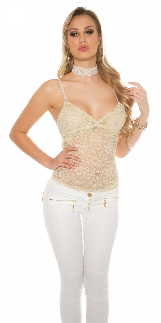 Sexy lace top with flowers...