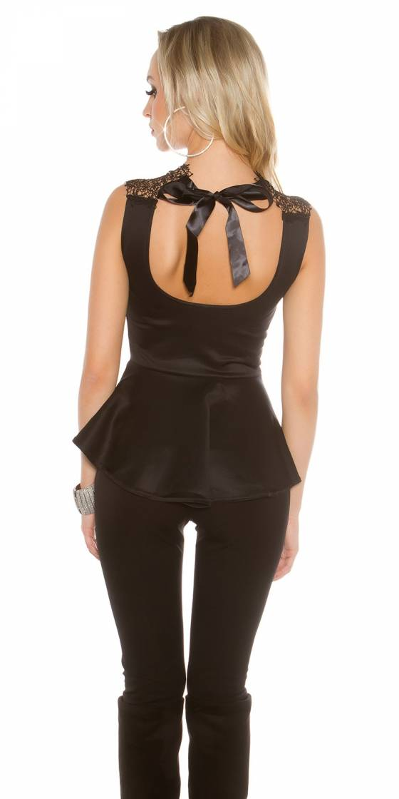 Elegant top with peplum and...