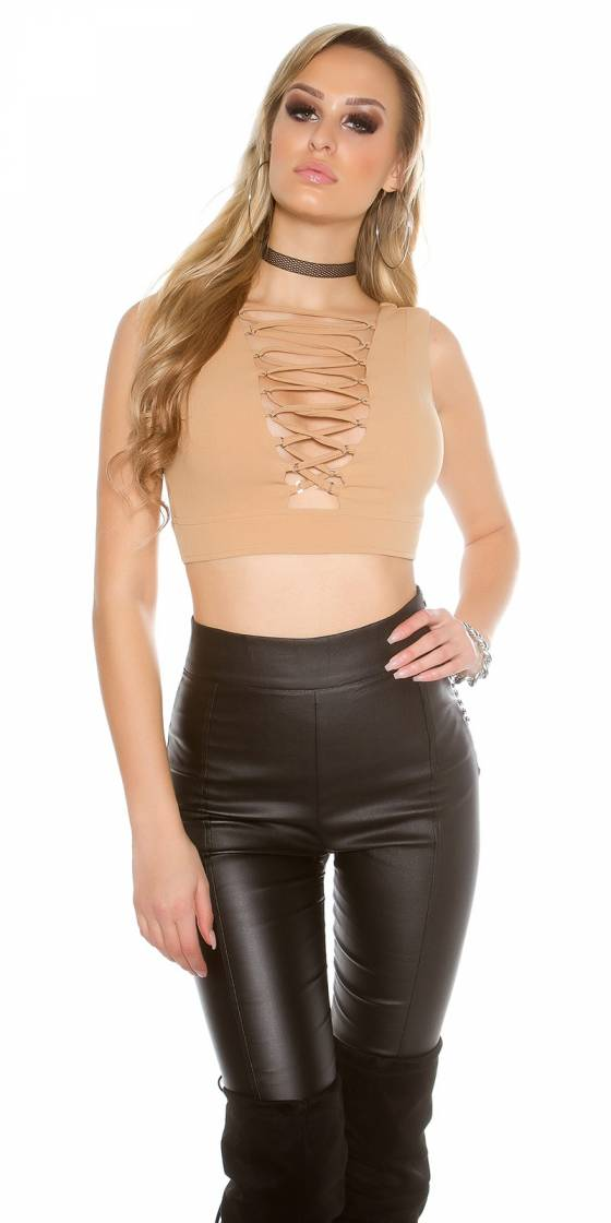 Sexy KouCla Crop Top with...