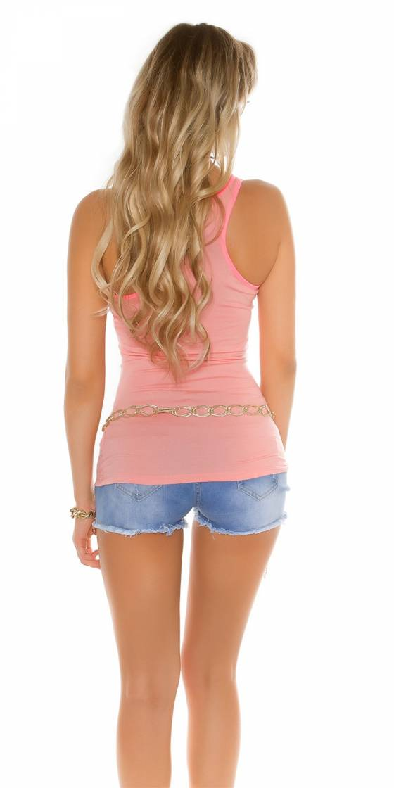 Long pull tendance sexy NAOMIE couleur rose