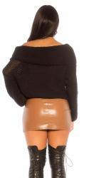 Jupe fashion ZORA couleur marron