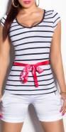 T-shirt tendance KouCla avec ceinture