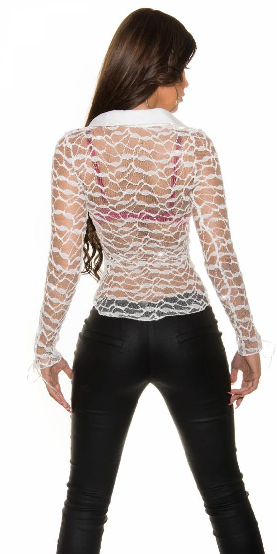 Sexy transparent shirt to lace