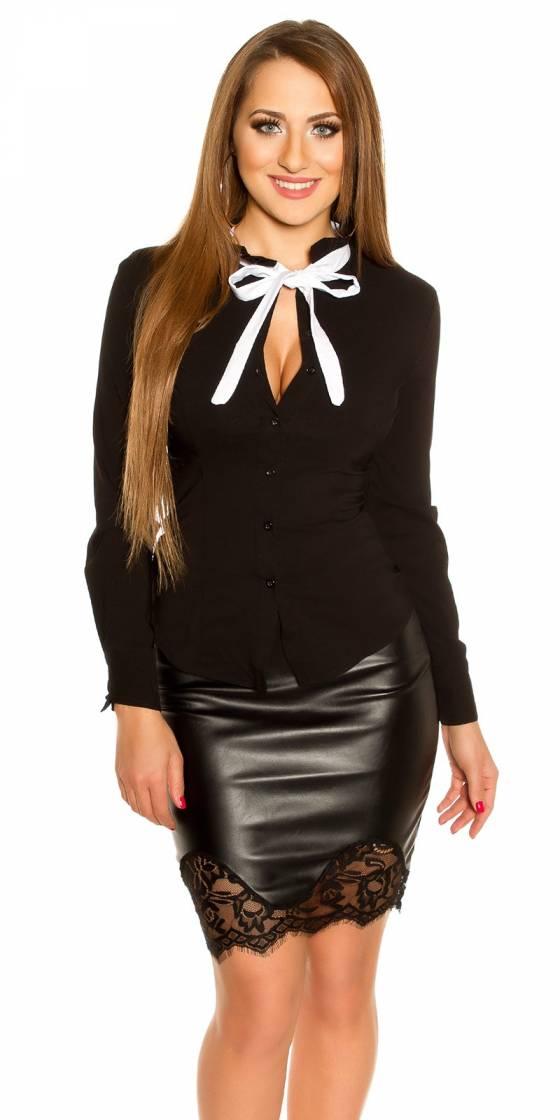 Long pull femme tendance MELINDA couleur noir