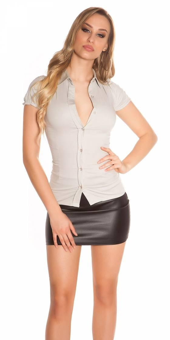Sexy shortarm-blouse to tie...