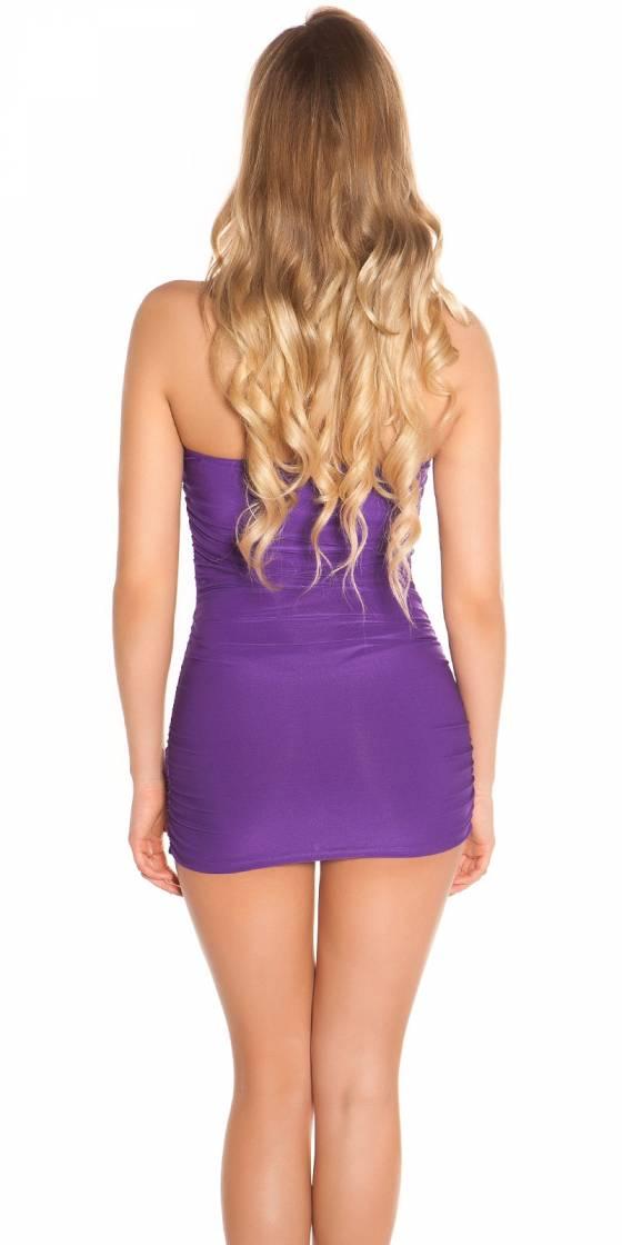 Sexy Neck-Minidress with...