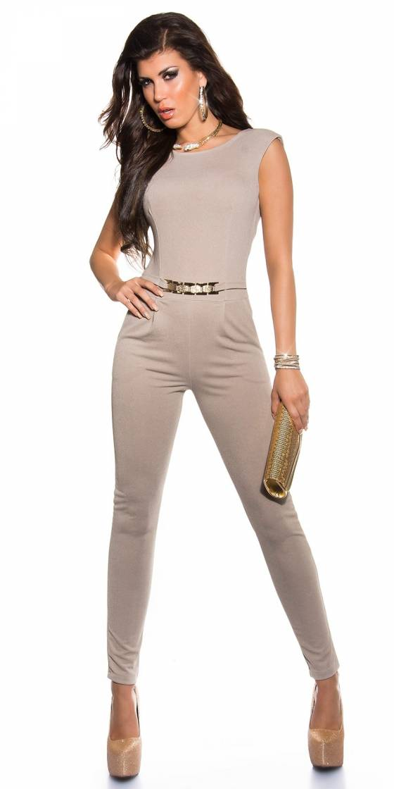 Sexy jumpsuit with golden...