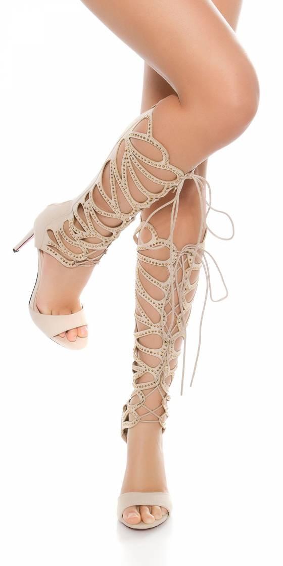 Sandales romaines sexy à...