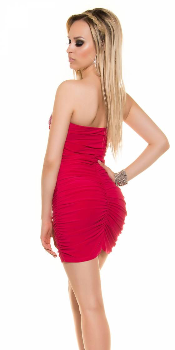 Sexy Bandeau-Minidress with...