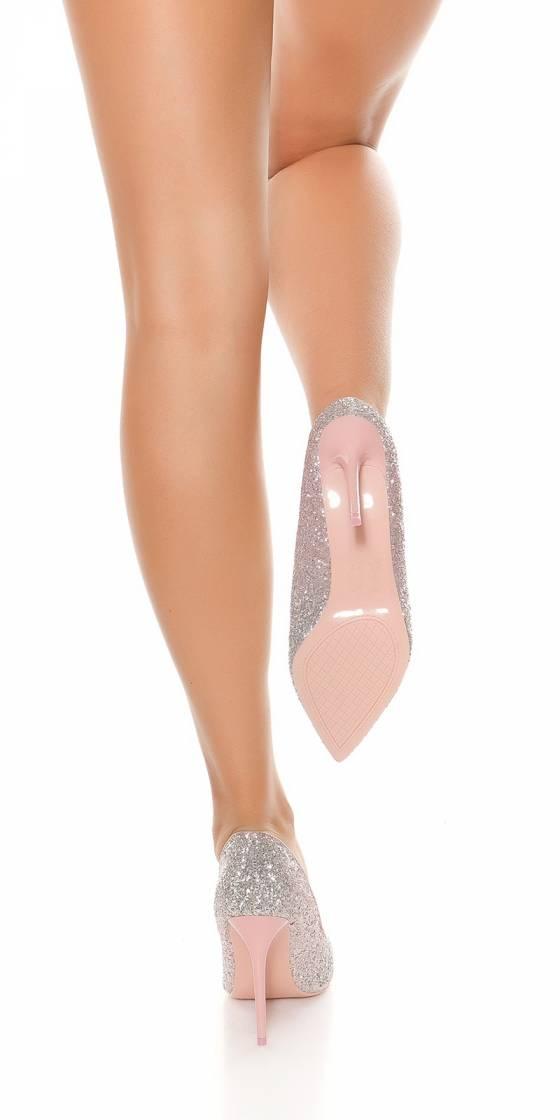 Escarpins à paillettes sexy...