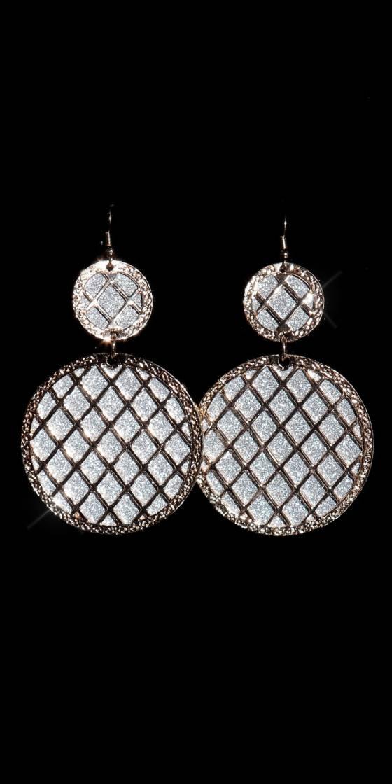 Elegant glitter earrings...