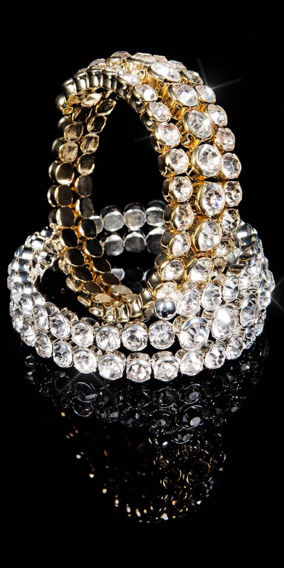 Bracelet strass sexy spirale