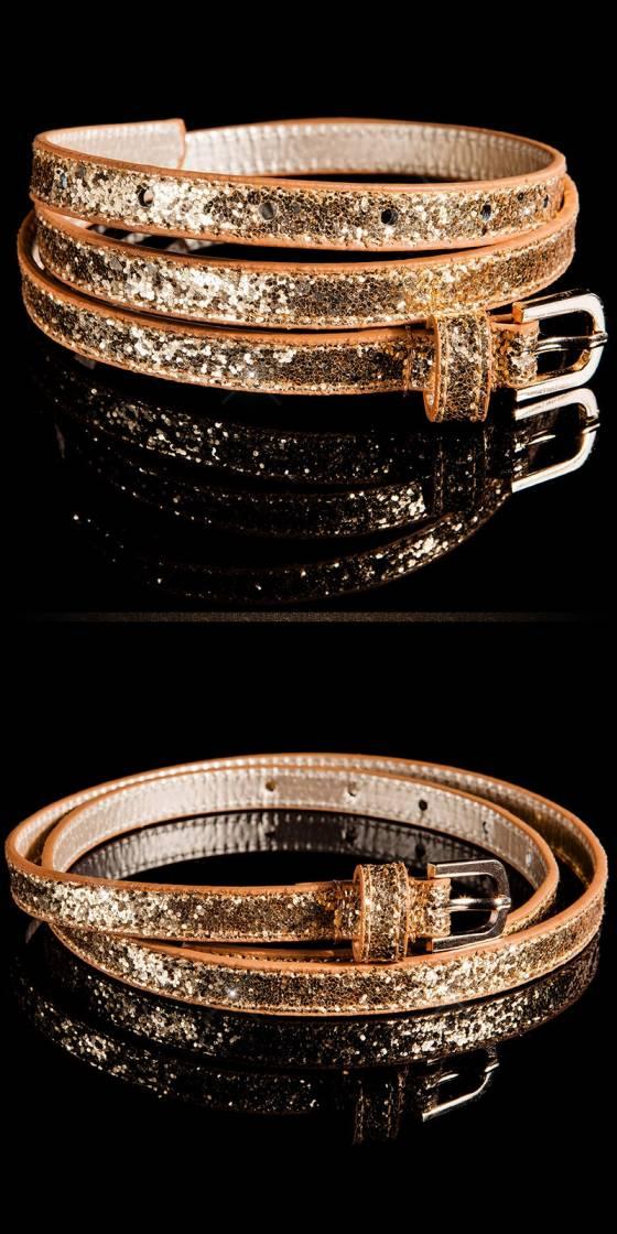 Trendy belt with glitter