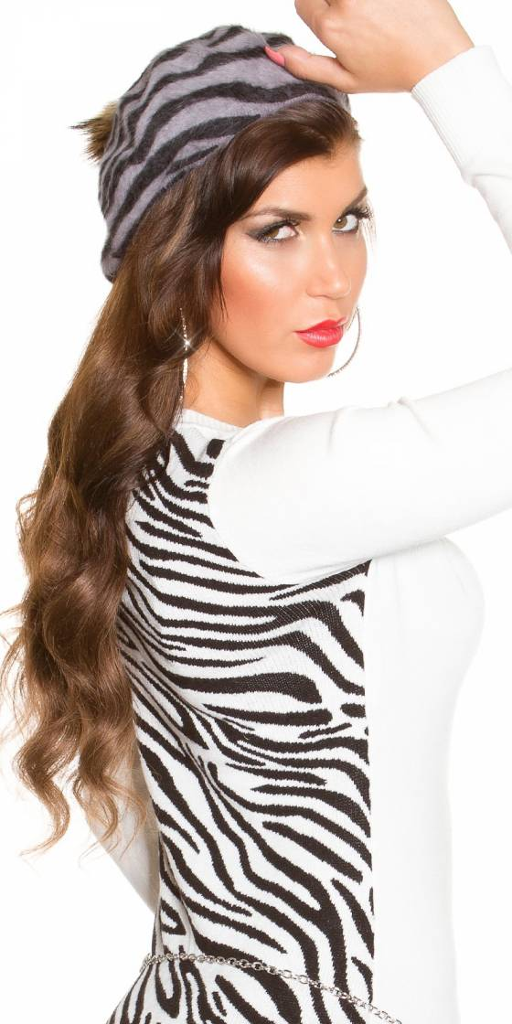 Trendy Zebra Basque cap...