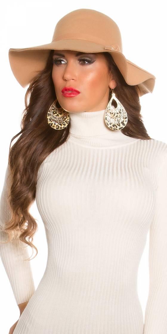 Trendy felt hat boho style