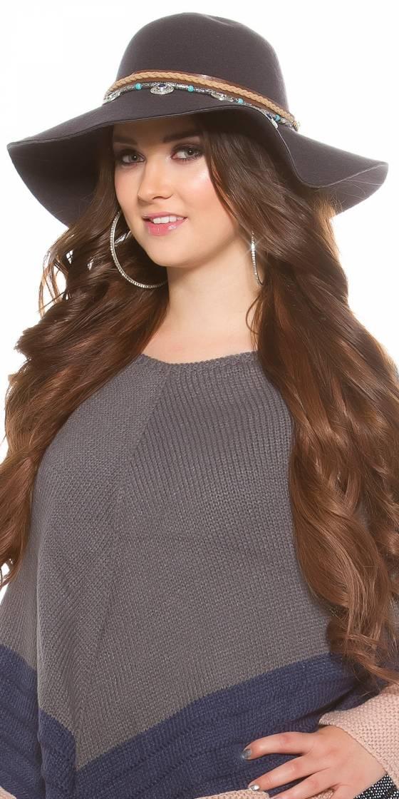 Trendy Fedora hat with...