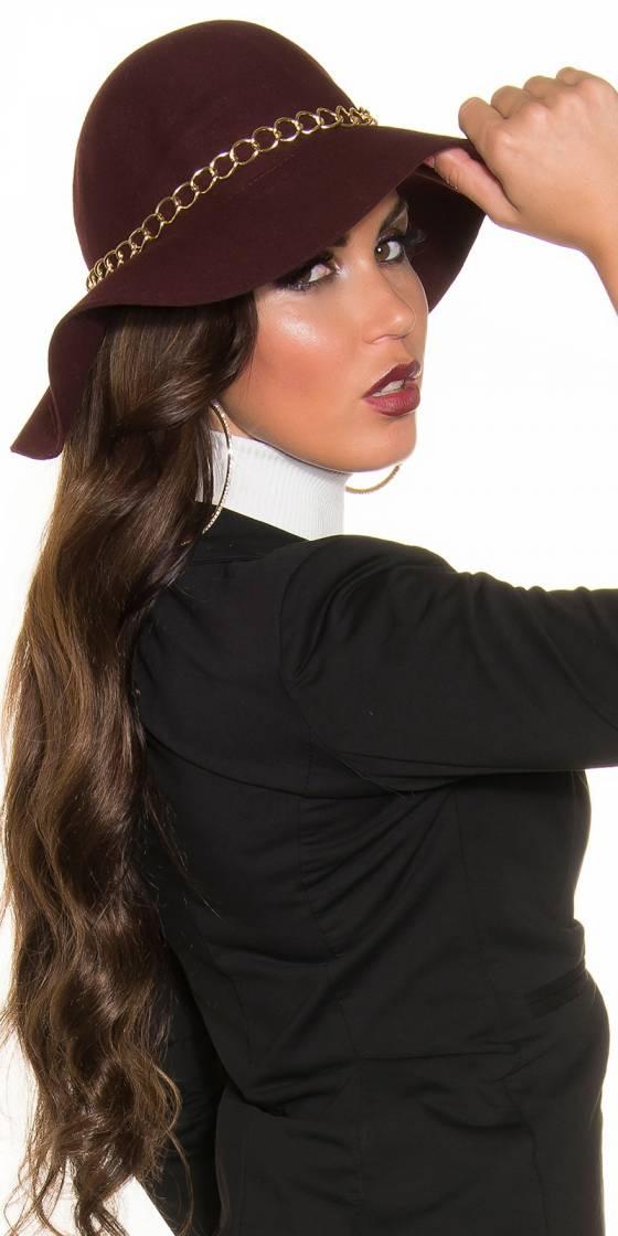 Trendy floppy felt hat with...