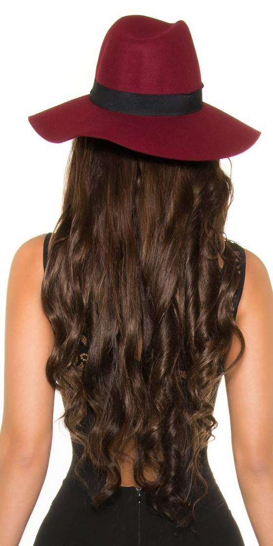 Trendy fedora felt hat with...
