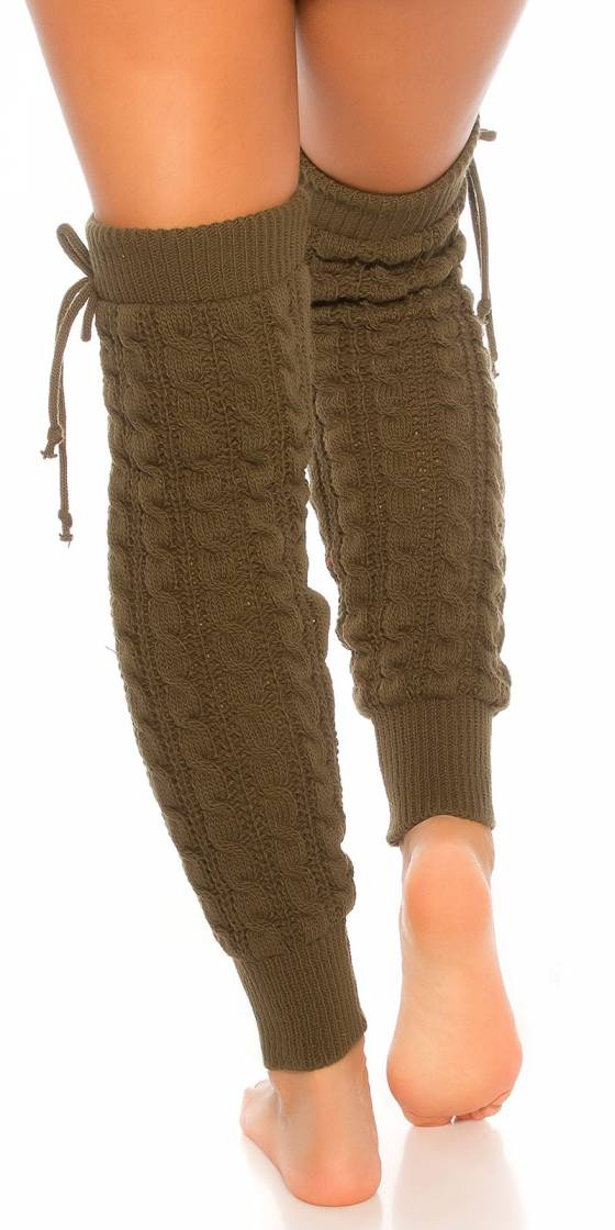 Sexy knit leg warmers with...