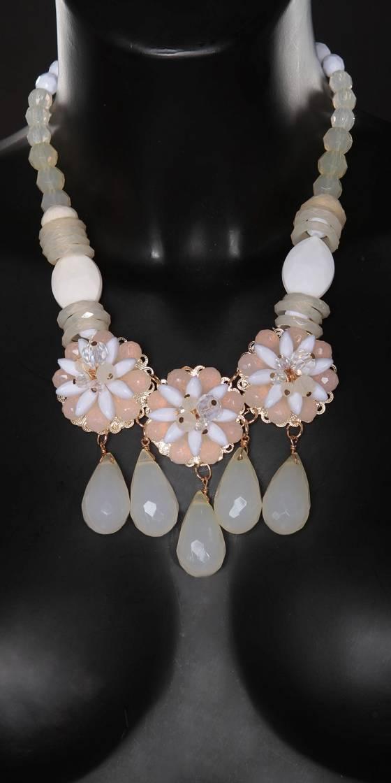 Collier tendance avec perles