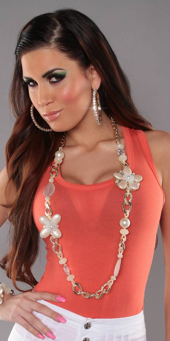 Trendy chain with pearls...