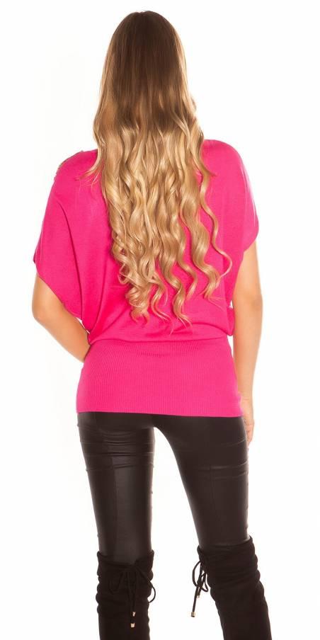 Top sexy tendance fashion CARMEN couleur violet