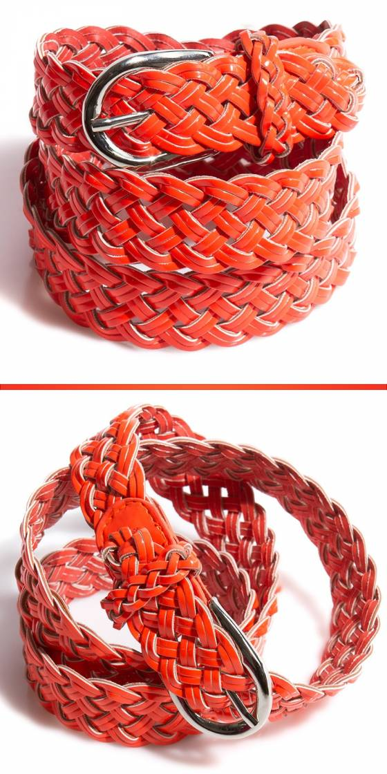 Trendy braid belt  in neon...