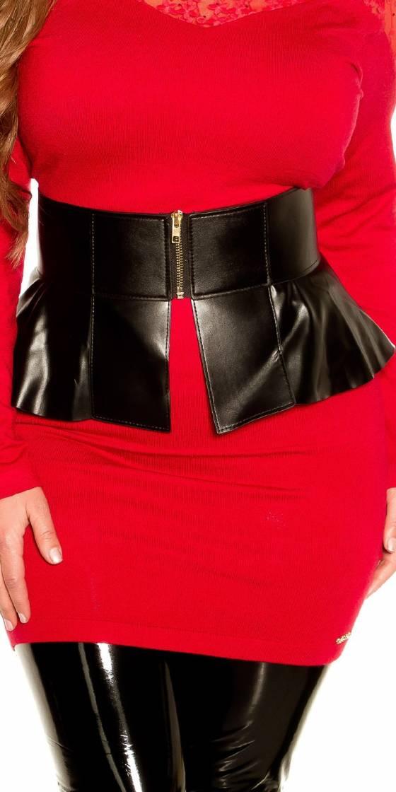 Sexy leatherlook waist belt