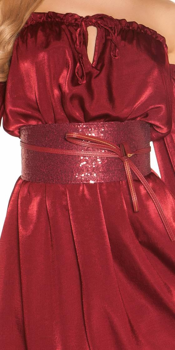 Sexy waist belt with sequins
