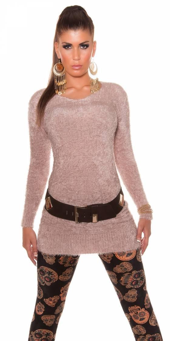 trendy belt with metallic look