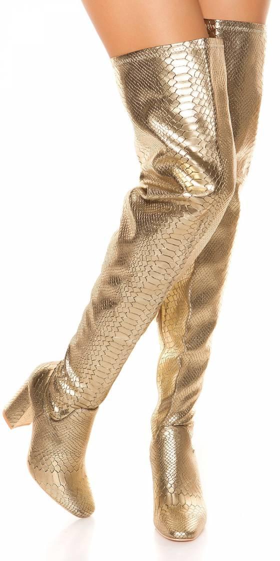 Sexy Overknees block heel...