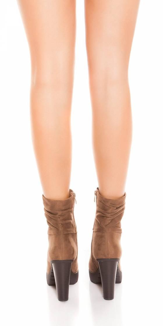 Trendy block heel ankle boots