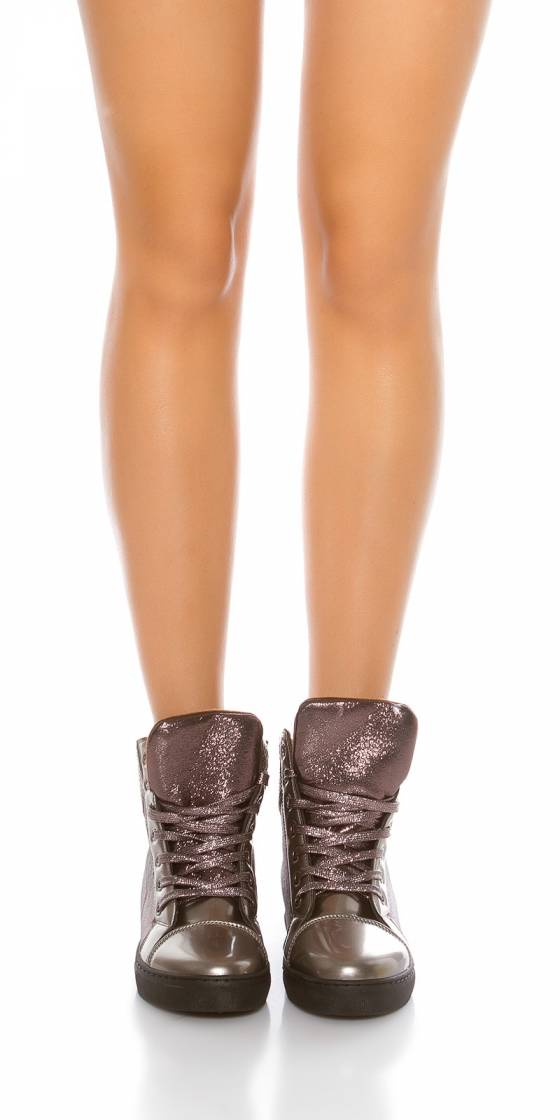 Trendy wedge sneaker with...