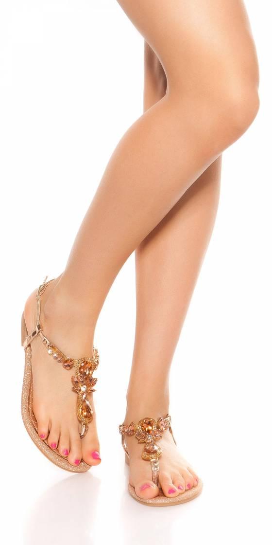 Sandales tendance avec strass