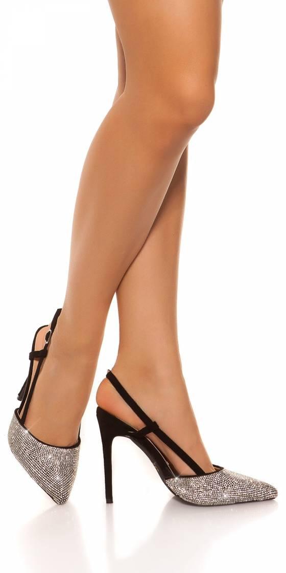 Escarpins sexy pailletés à...