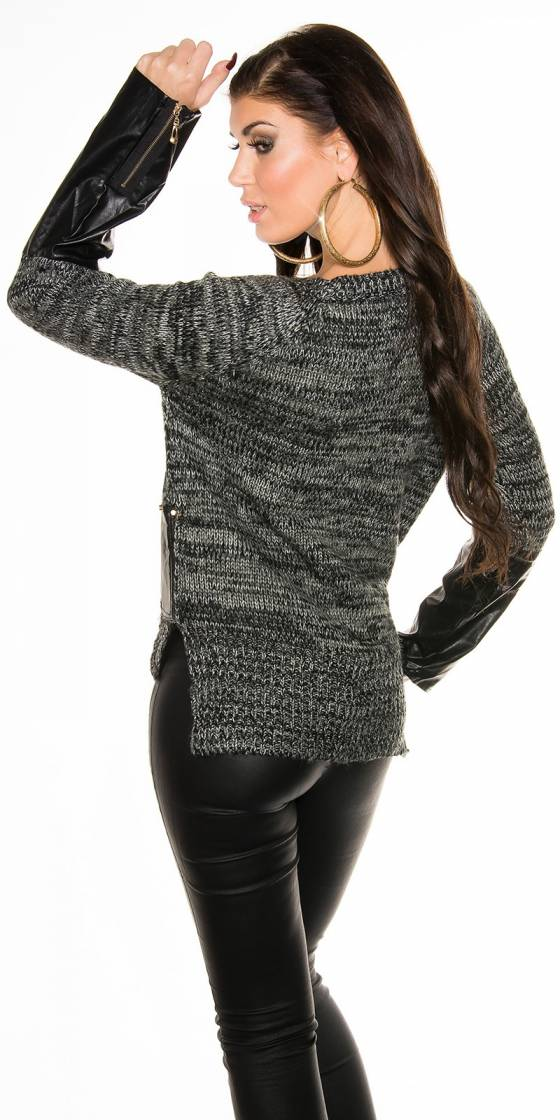 Sexy knit sweater witt...