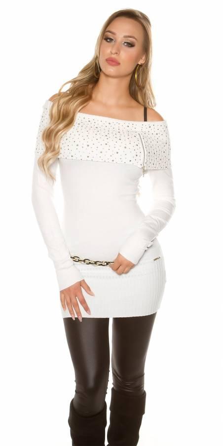 Blazer fashion SELENA couleur blanc (veste)