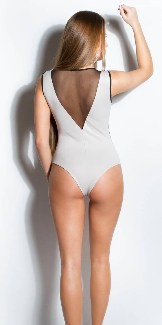 Body sexy avec maille fine