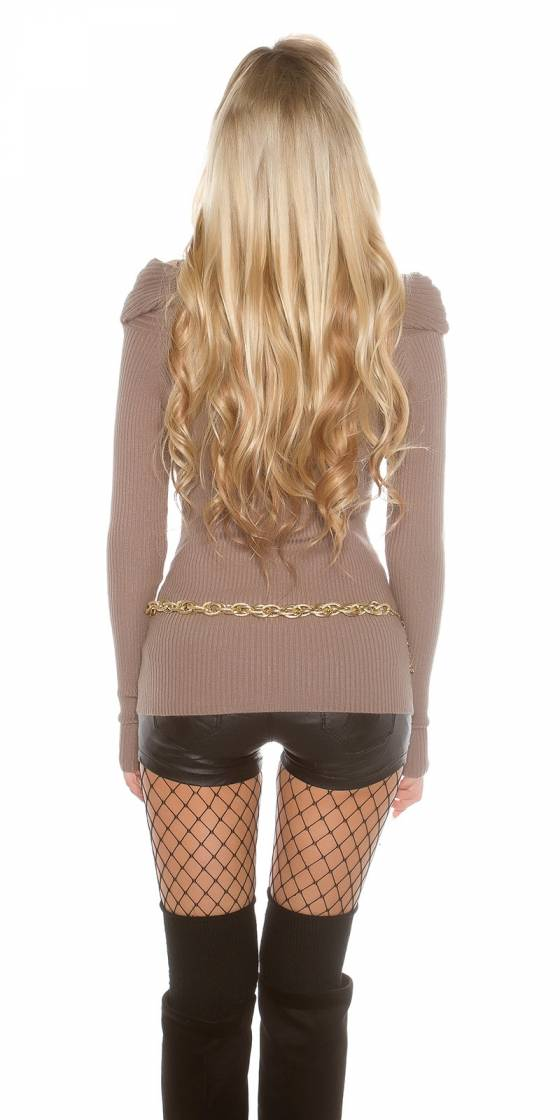Pull sexy au look portefeuille