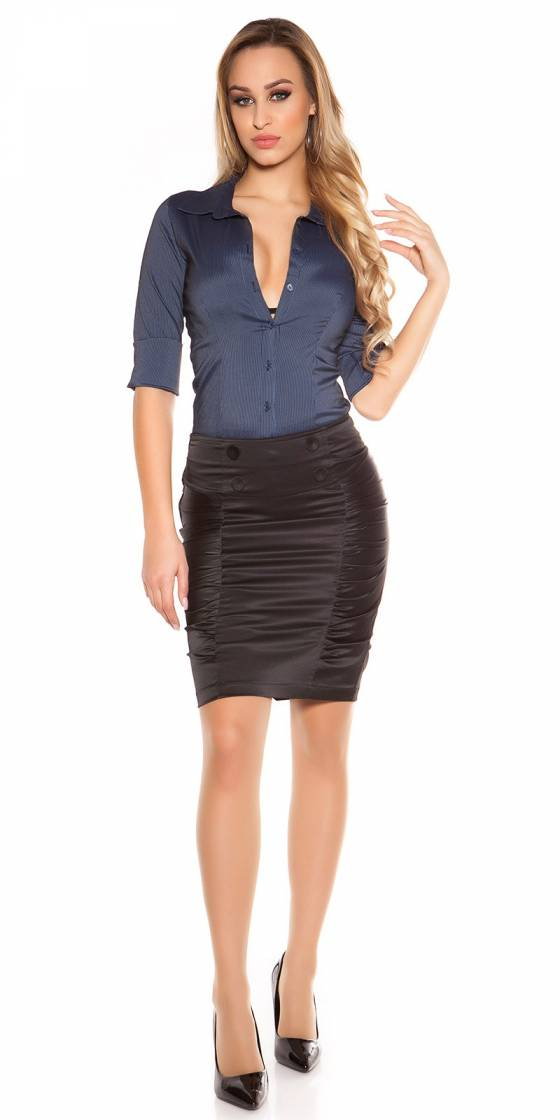 Sexy gathered skirt with...