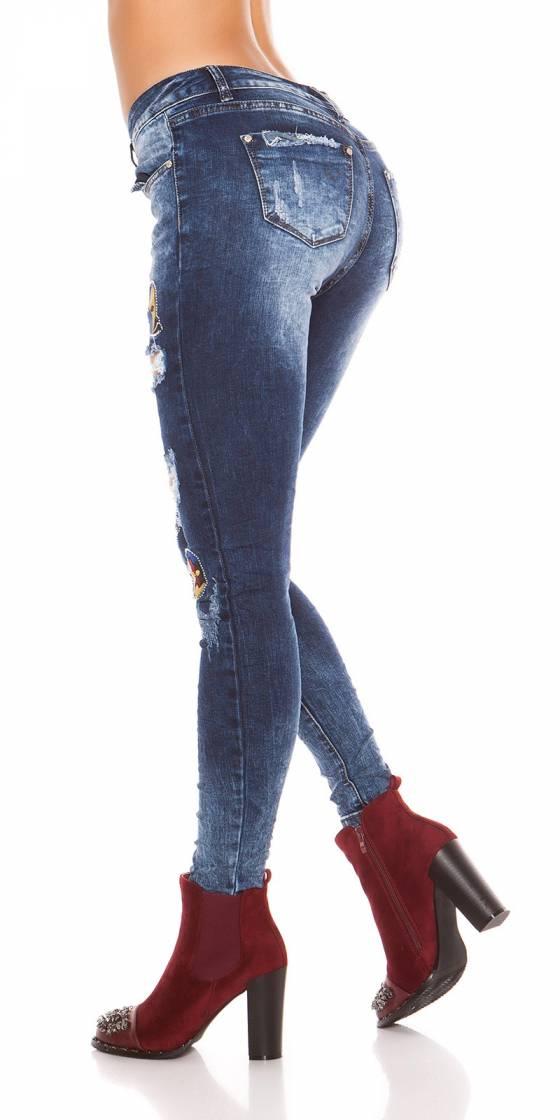 Jeans skinny sexy destroy...
