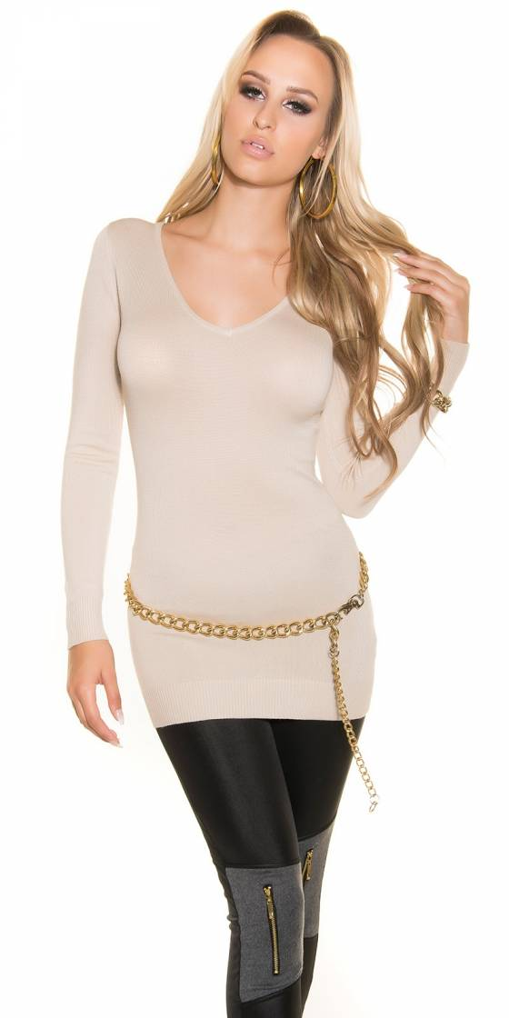 Pull fin en tricot sexy...