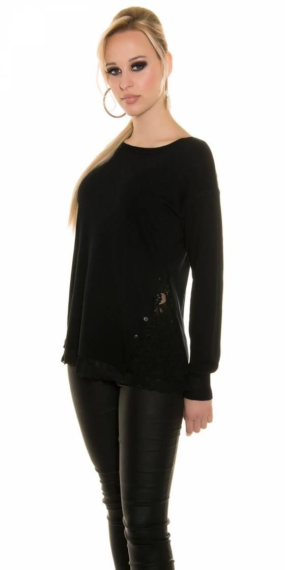 Robe pull fashion tendance VIKY couleur noir