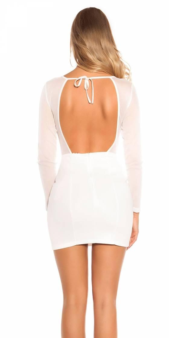 Robe sexy tendance LAURIANNE couleur blanc