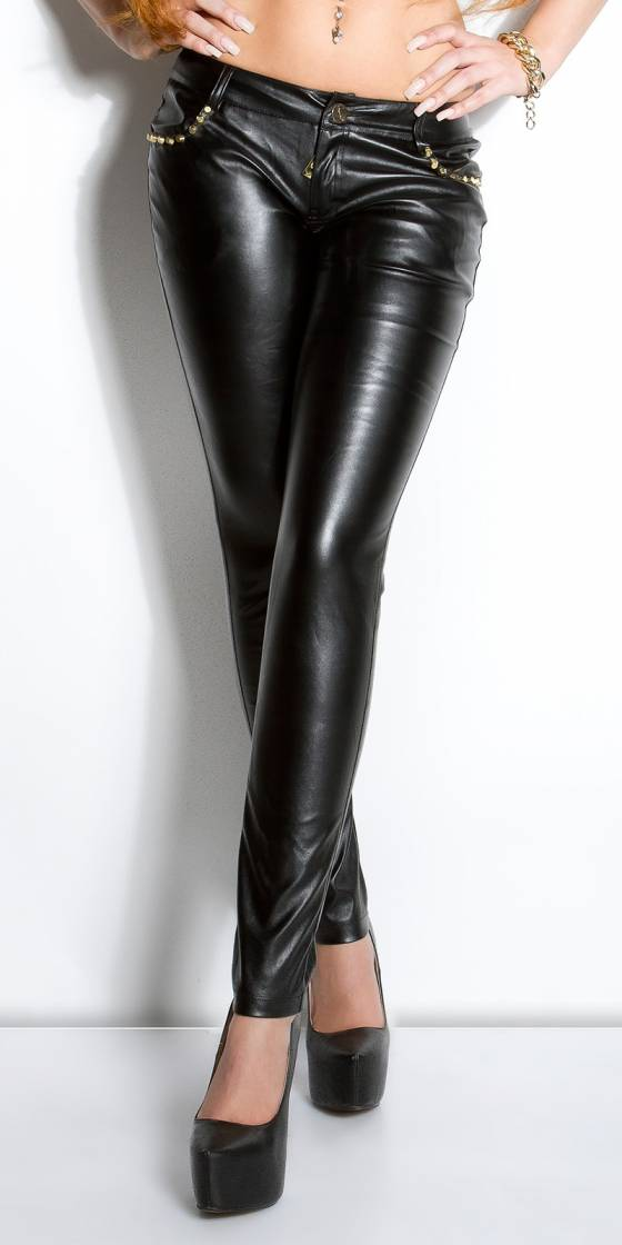 Pantalon sexy en similicuir...