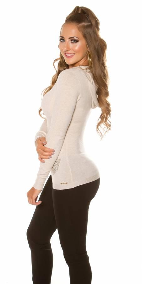 Blazer fashion DIANA couleur beige (veste)